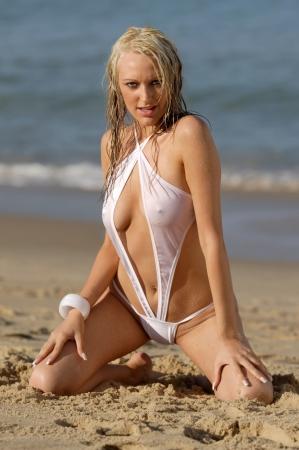 beachwear: Sexy bikini girl