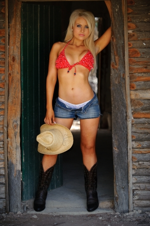 sheer lingerie: Sexy Country girl