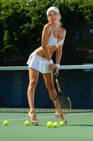 tennis net: Sexy tennis girl
