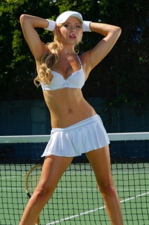 uniform skirt: Sexy tennis girl