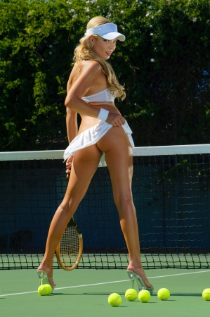 tenis: Sexy chica de tenis Foto de archivo