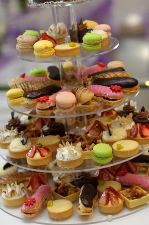 Cupcake wedding cake  Foto de archivo