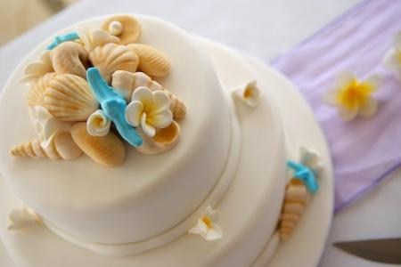 wedding cake: Decorated Wedding cake Stock Photo