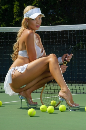 Sexy tennnis girl  photo