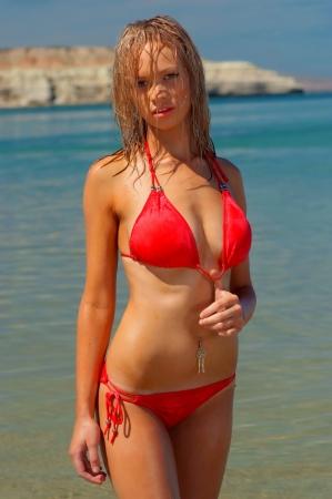 Beautiful beach girl