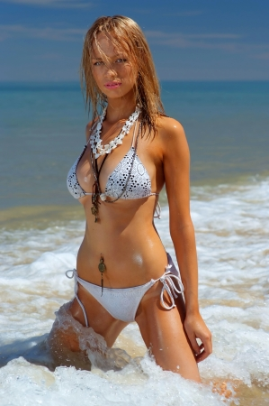 sheer: Beautiful beach girl