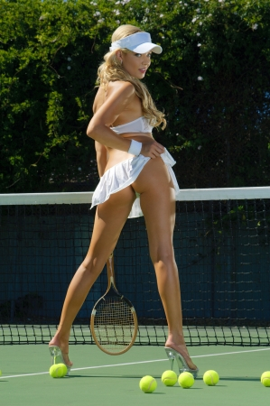 racquet: Sexy tennis girl