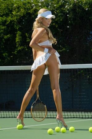 provocative: Sexy tennis girl