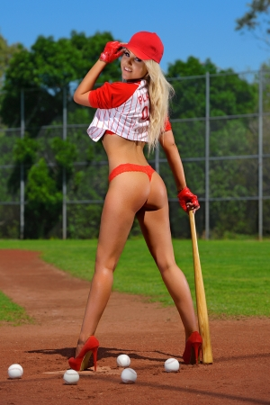 Sexy baseball girl  photo