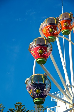 Colourful ferris wheel  photo