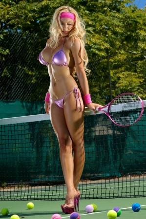 Sexy tennis girl  photo