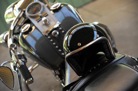 Motorcycle and helmet