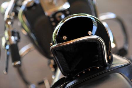 motorcycle helmet: Motorcycle and helmet
