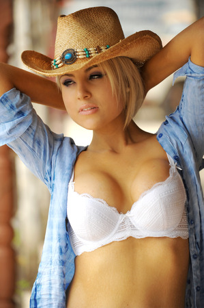 sheer: Sexy Cowgirl