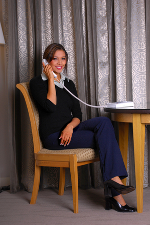 answering phone: Personal secretary answering phone