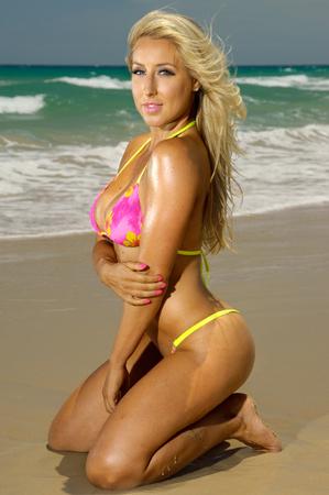 nakedness: Sexy bikini girl Stock Photo