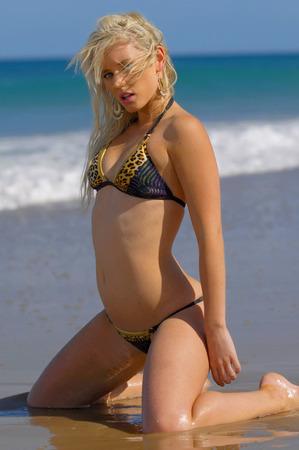 tempting: Sexy bikini girl Stock Photo