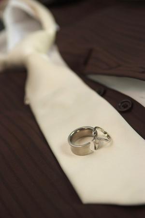 Close up photo of wedding rings