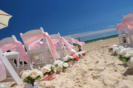 結婚式: ビーチの結婚式 写真素材