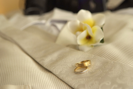 Wedding rings  boutonniere
