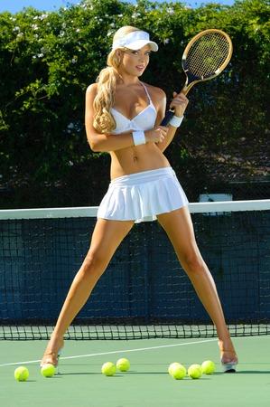 nakedness: Sexy tennis girl