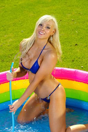 skimpy: Beautiful fun bikini girl