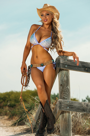 provocative woman: Sexy Cowgirl