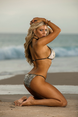 skimpy: Sexy beach bikini girl