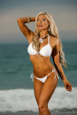 nakedness: Sexy beach bikini girl