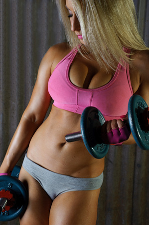 erotic fantasy: Sexy fitness girl
