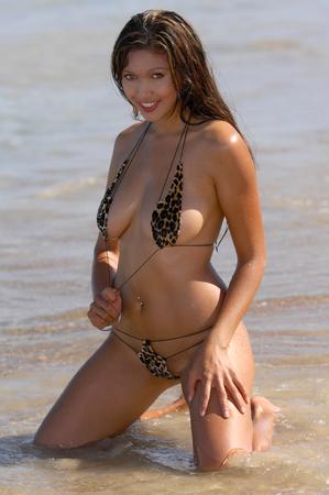 Sexy beach girl photo