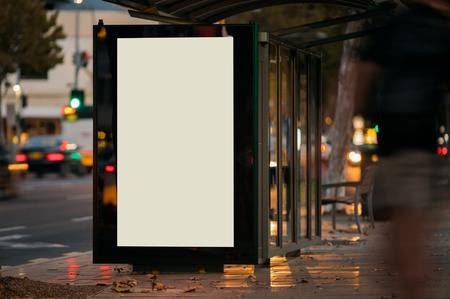 Advertising bus shelter