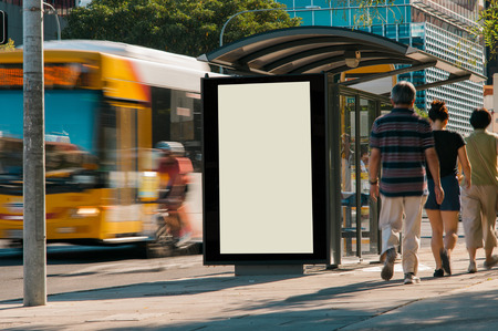 Outdoor advertising shelter