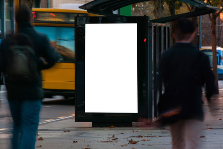Blank outdoor advertising shelter Foto de archivo - 102757653