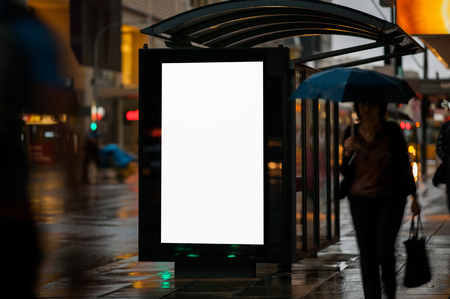 Blank outdoor advertising shelter
