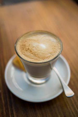 Coffee - cafe latte Standard-Bild