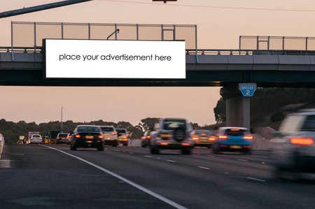 Blank outdoor advertising billboard