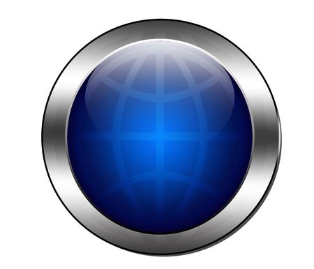 online logo: button Stock Photo