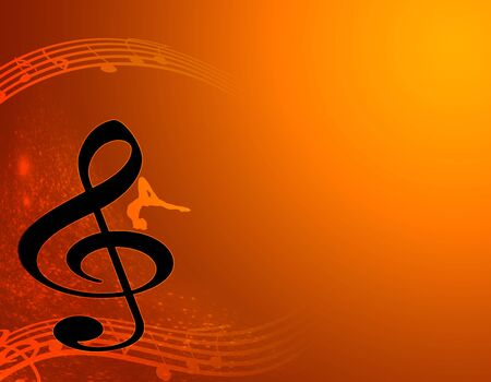 logo music: notes - music Stock Photo
