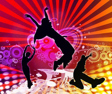 Parti - danse  Banque d'images - 8068896