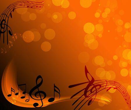 musica clasica: Notas - m�sica  Foto de archivo