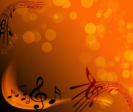 notes - music Banco de Imagens