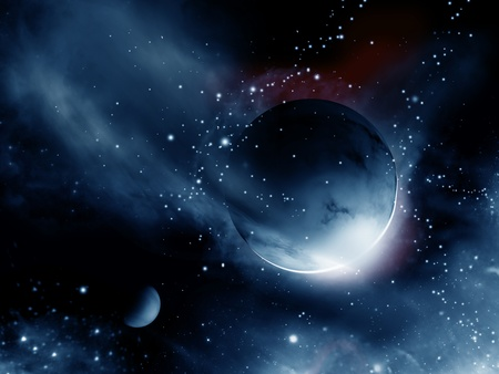universe with planet Stock Photo - 9673966