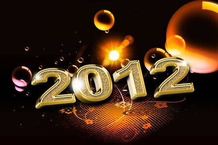 New Year, 2012 Stock Photo
