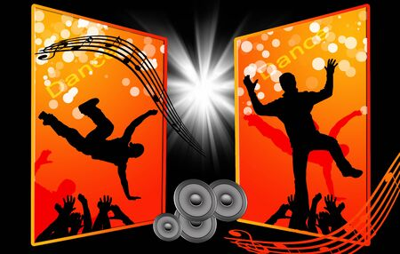 stage performer: party background with silhouette