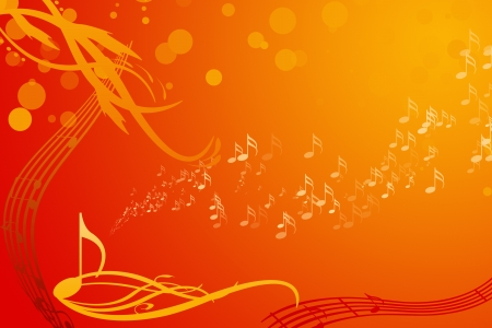 music notes background Stock Photo - 12781980