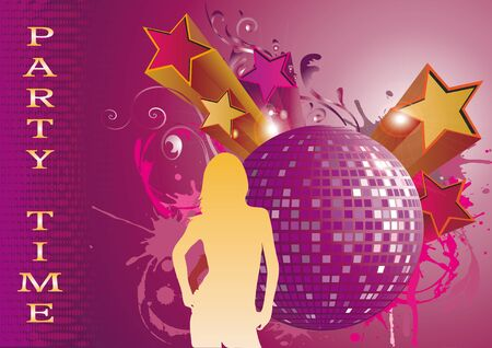 party background, party time  Vector