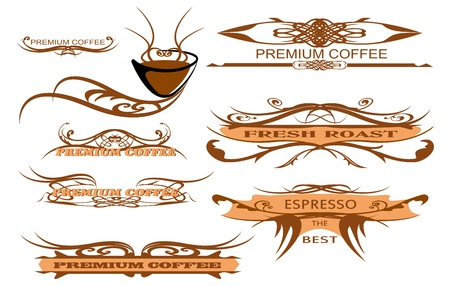 design elements for page, cup caffee  Illustration