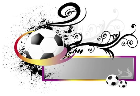 fotball with floral elements Vector