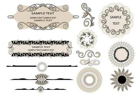 design elements for page Stock Vector - 14302866